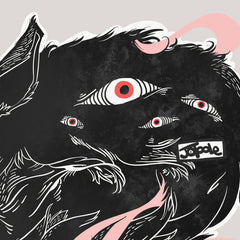 Many Eyes Many Black Wolves Matte Art Print Poster