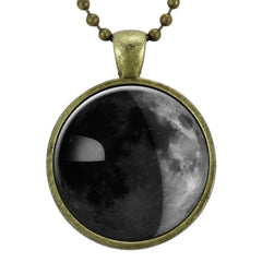 Custom Birth Moon Necklace, Personalized Moon Phases Jewelry, Customized Special Date Moon Pendant