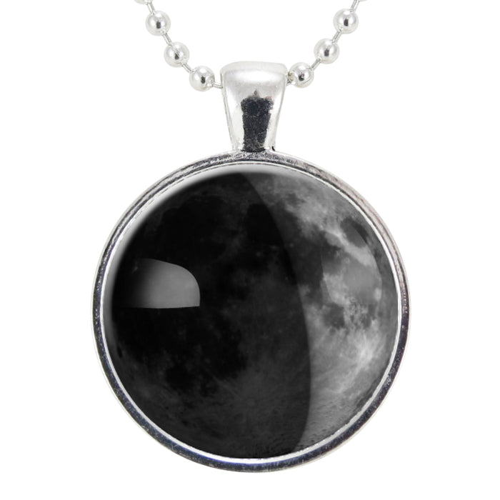 Custom Birth Moon Necklace Personalized Moon Phases