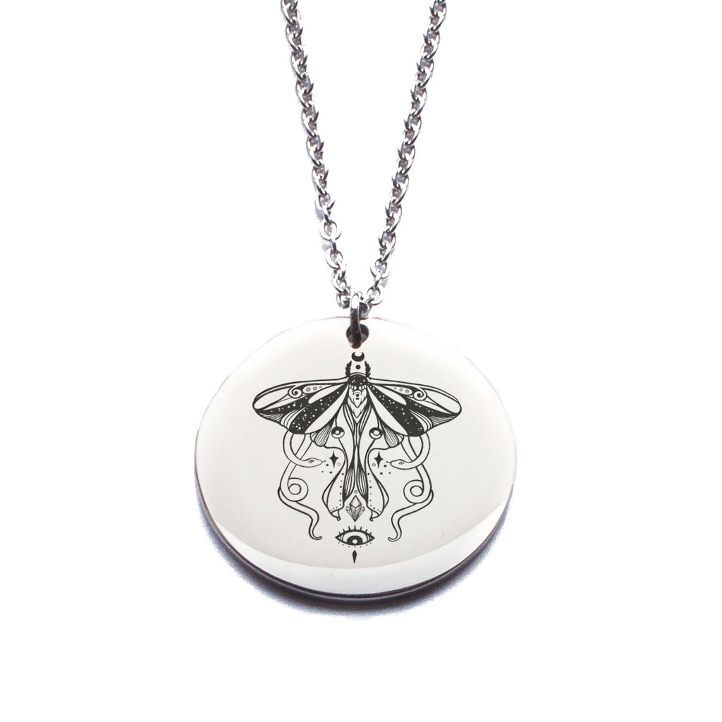 Luna Moth And Snakes Pendant Necklace