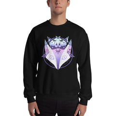 Creepy Cute Fox Moth Pentagram Sweatshirt