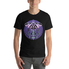 mens pastel goth tshirt with moth and snake