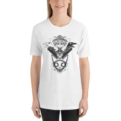 witch with crows and cat skull unisex shirt