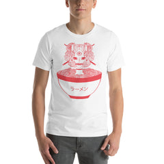 Monster Girl + Ramen Noodle Unisex T Shirt, Red On White