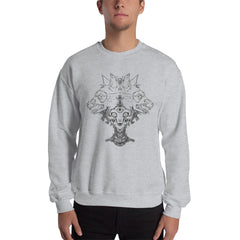 Voodoo Priestess And Wolves Sweatshirt, Gray