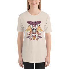 shirt with fox and autumn art by jennifer o'toole