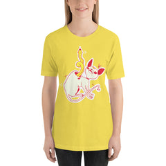 Sphynx Cat And Snake Unisex T Shirt, Yellow