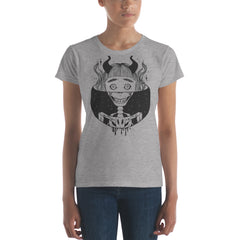 Skeleton Girl, Ladies T-Shirt, Heather Grey