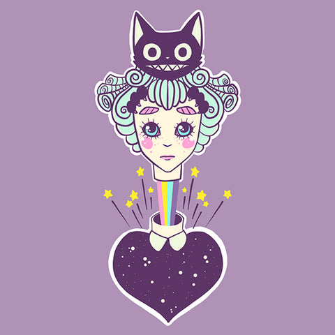 Alice & Cheshire Cat Art Print