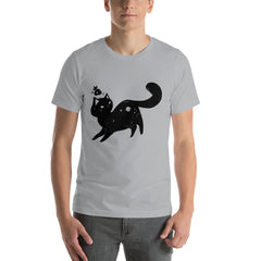 Space Cat, Unisex T-Shirt, Gray