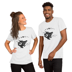 Wolf With Eyes Unisex T-Shirt, White