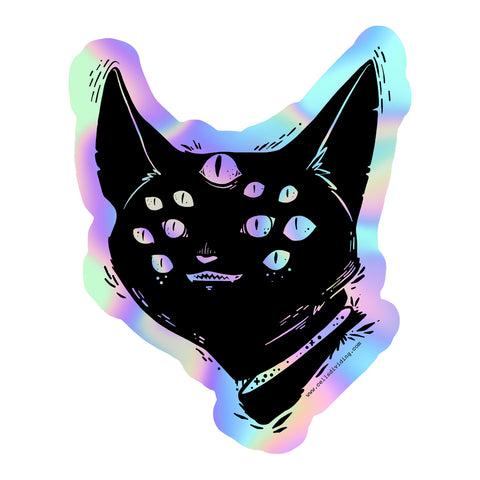 Spider Cat, Holographic Sticker