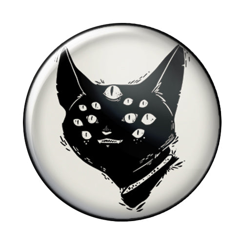 Spider Cat, 1-Inch Pin Button