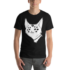 Many Eyed Cat Creature, Unisex Black T-Shirt