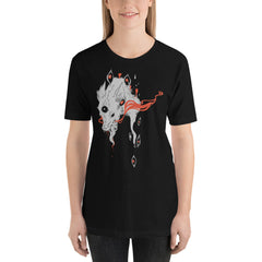 Magic Wolf With Third Eye, Black Unisex T-Shirt