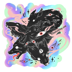 Many Wolves, Holographic Sticker