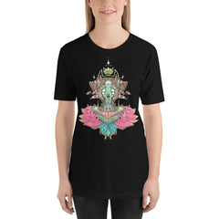 Sacred Lotus Creature Unisex T-Shirt, Black