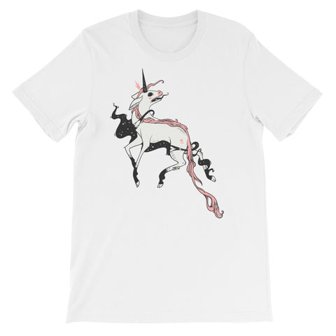 Weird Unicorn, Unisex T-Shirt, White