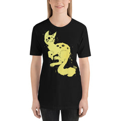 Many Eyed Spider Cat, Unisex T-Shirt, Black