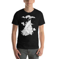 Wolf And Ghost Unisex T-Shirt, Black