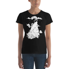 Wolf & Ghost, Ladies T-Shirt, Black