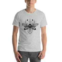 Death Head Moth, Unisex T-Shirt, Athletic Heather
