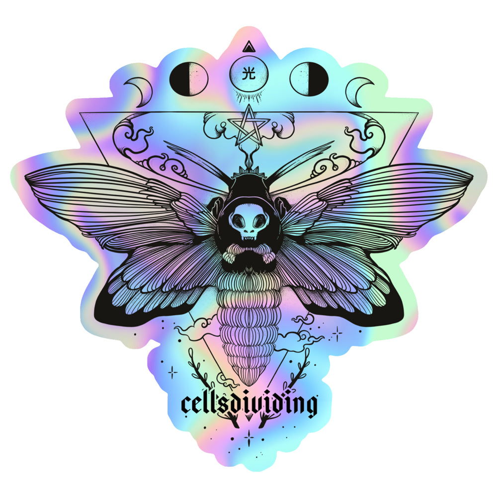 Death Head Moth, Holographic Sticker