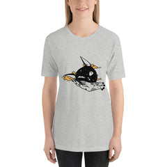 Squishy Cat Head, Unisex T-Shirt, Athletic Heather