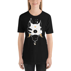 Two Headed Cat, Unisex T-Shirt, Black
