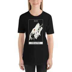 Wolf Death Tarot Card, Unisex T-Shirt, Black