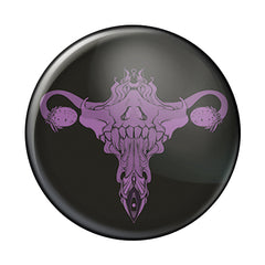 Death Metal Uterus, Purple, 1-Inch Pin Button