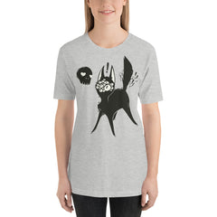 Many Eyed Black Cat, Unisex T-Shirt, Athletic Heather