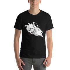 Wolf & Anatomical Heart, Unisex T-Shirt, Black