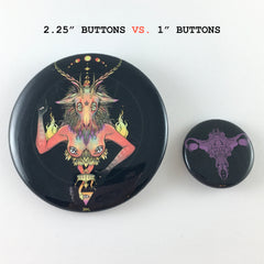Baphomet, 2.25 Inch Pin Button