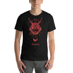 Chiroptera Bat, Unisex T-Shirt, Black