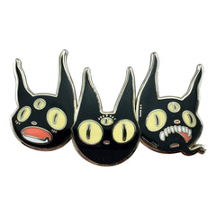 Three Black Cats, Enamel Pin