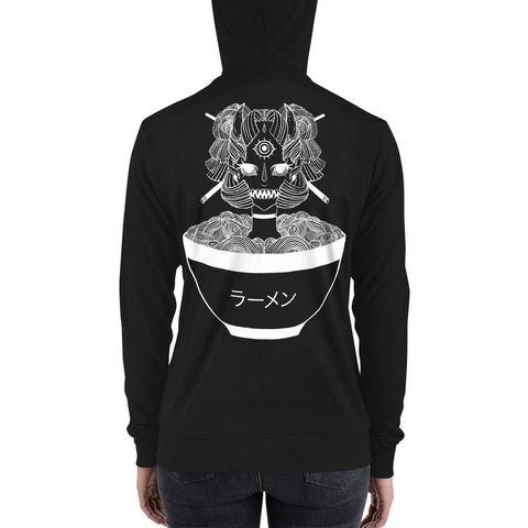 Monster Girl Ramen, Unisex Lightweight Hoodie, Black