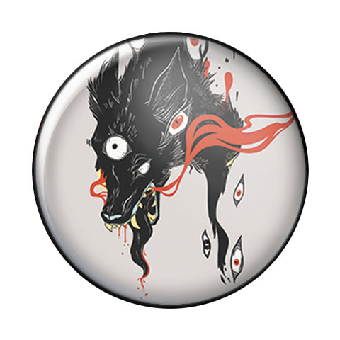 Wolf, 1-Inch Pin Button