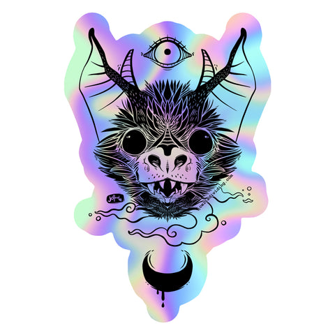 Bat, Holographic Sticker