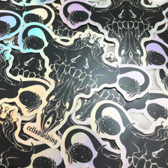 Death Metal Uterus, Holographic Sticker