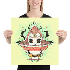 Monster Girl Ramen 2, Matte Art Print Poster