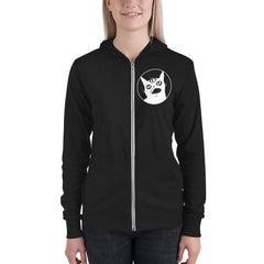 Third Eye Cat, Unisex Lightweight Hoodie, Black