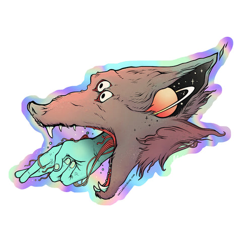 Wolf & Hand, Holographic Sticker