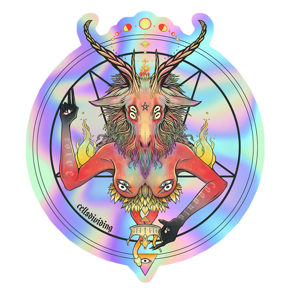 Baphomet, Holographic Sticker