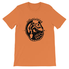 Skeleton Cat, Unisex T-Shirt, Burnt Orange