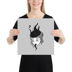 Octopus Girl, Matte Art Print Poster