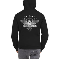 Death Head Moth, Unisex Zip Up Hoodie Sweater, Black