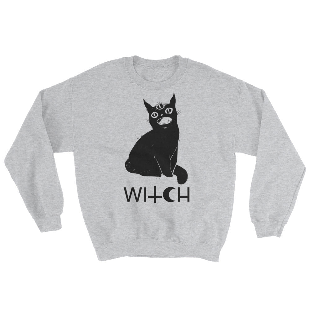 black cat sweatshirt with jotoole art