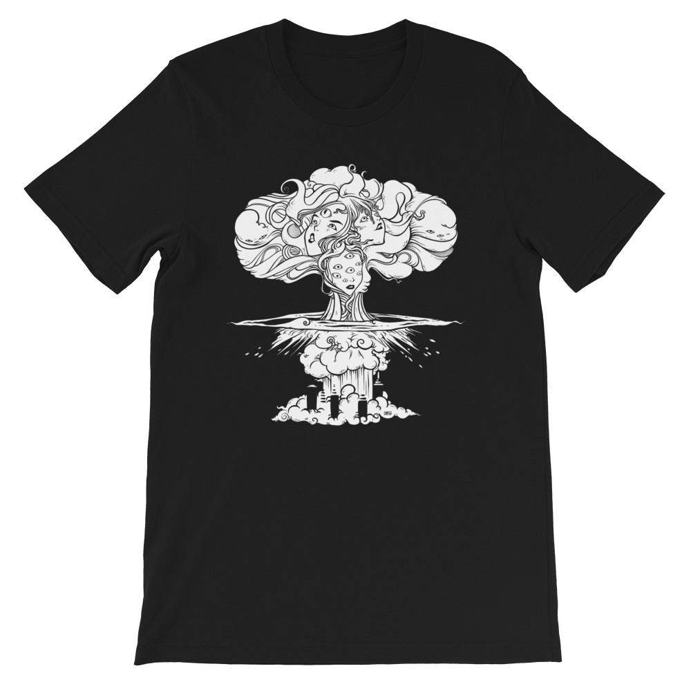 Mushroom Cloud, Unisex T-Shirt, Black