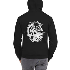 Skeleton Cat, Unisex Zip Up Hoodie Sweater, Black
